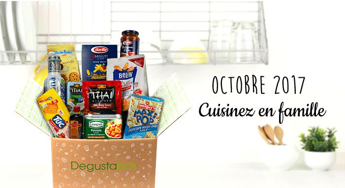 What's in the Degustabox ?  Octobre 2017