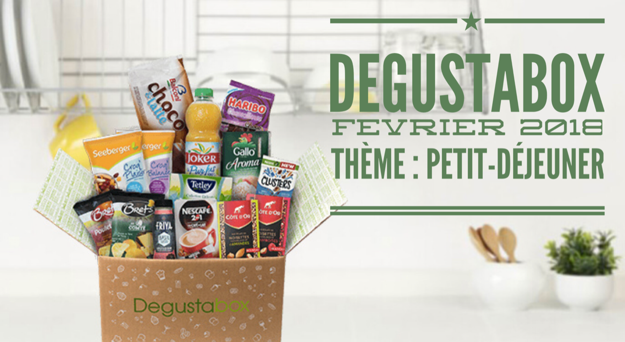 What's in the Degustabox : février 2018