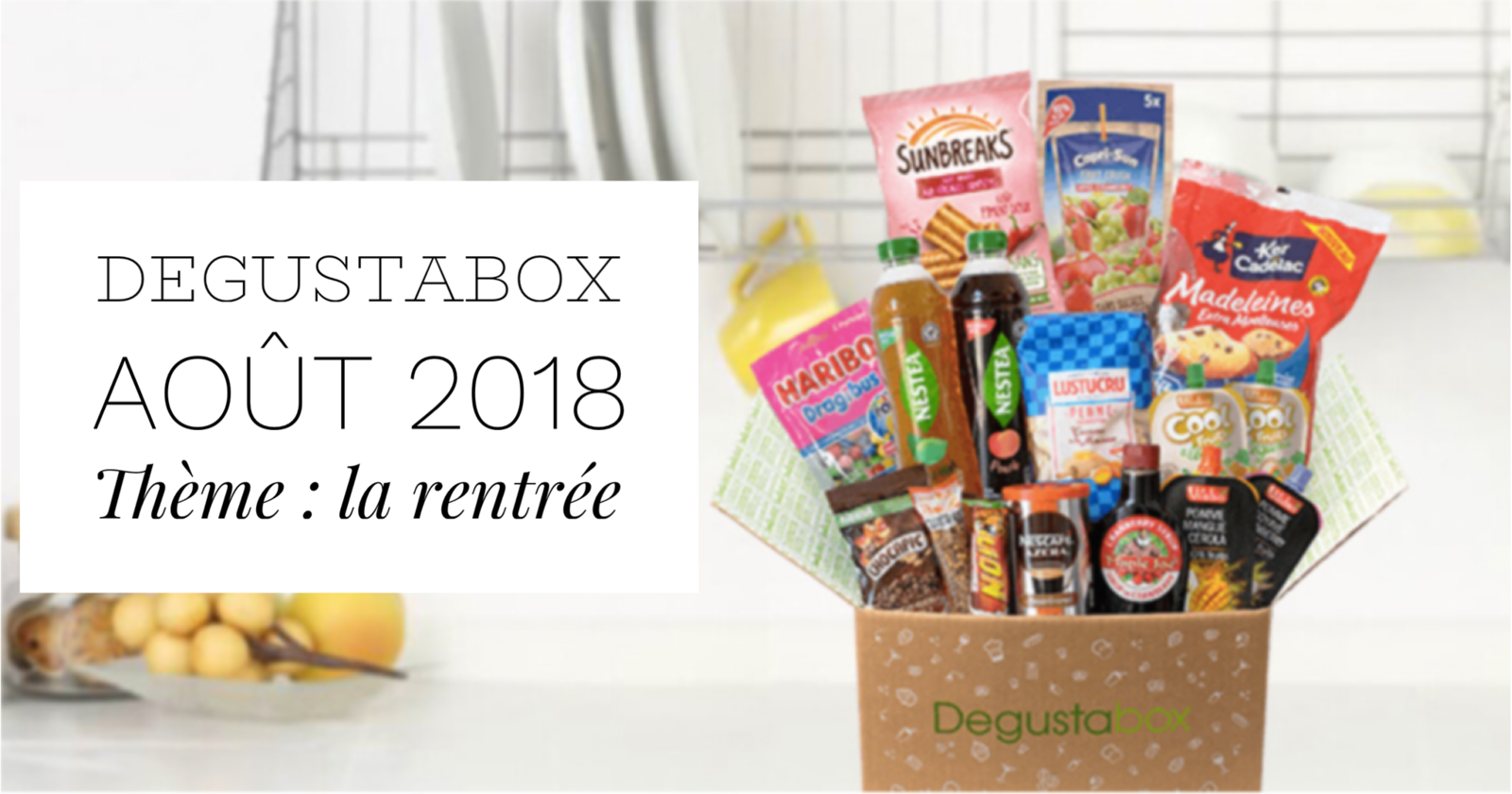 What's in the Degustabox : août 2018