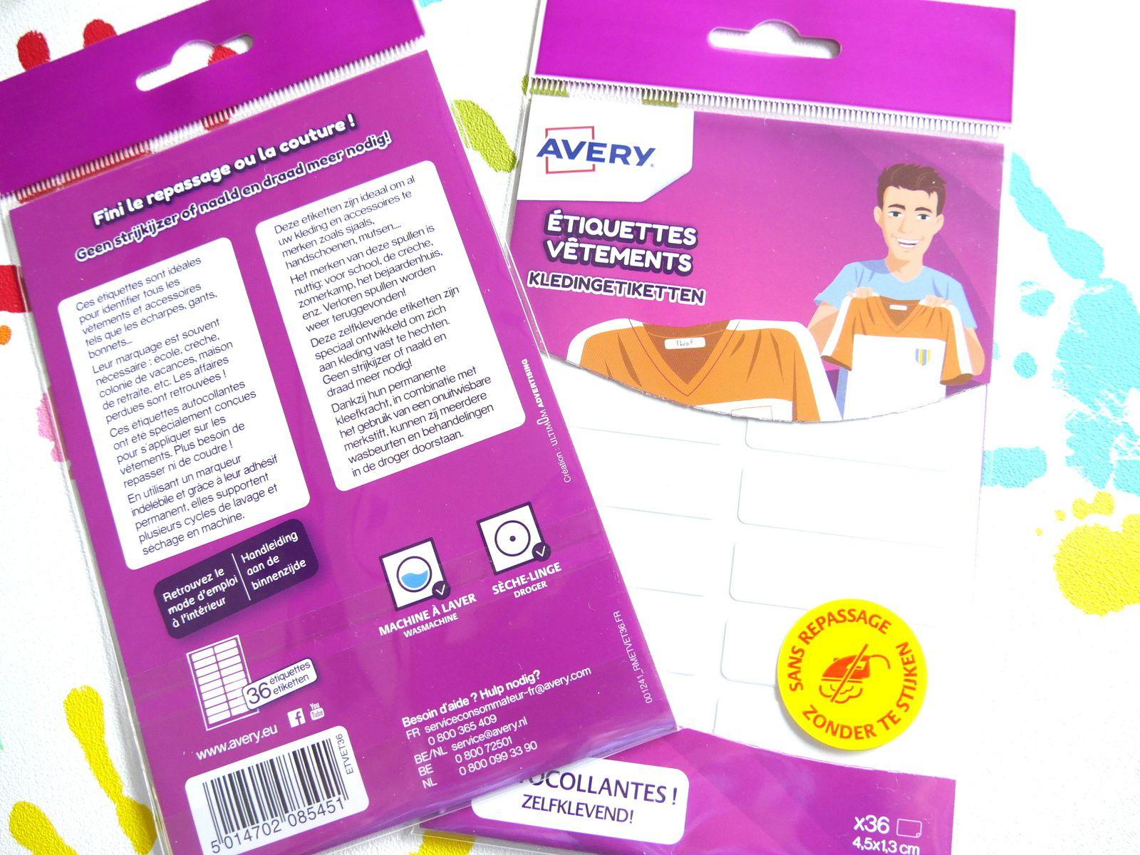 Etiquettes autocollantes pour textiles sans couture ni repassage