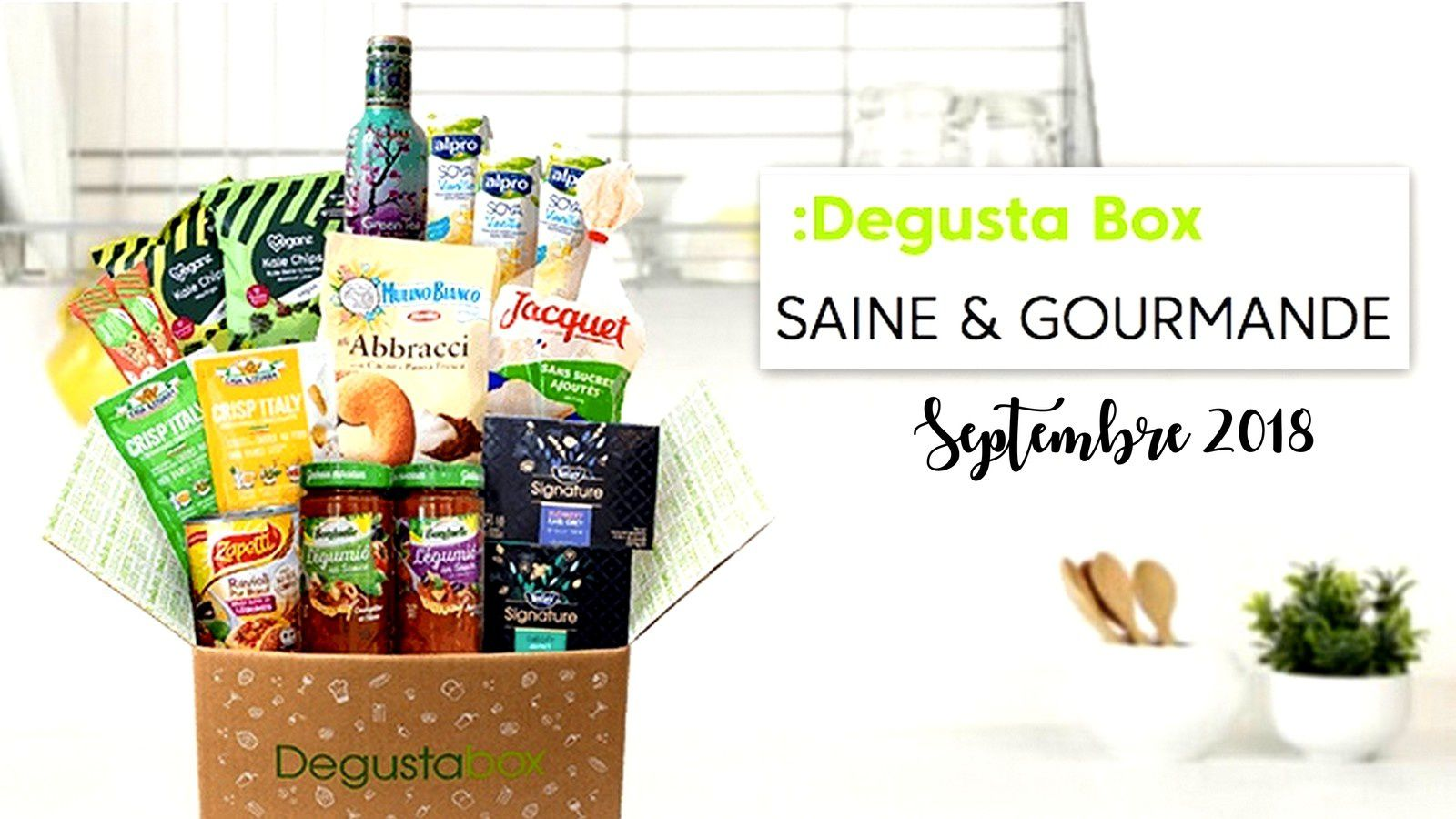 What's in the Degustabox : septembre 2018
