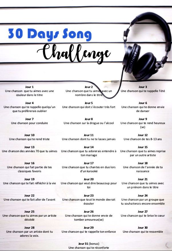 Mon 30 days song challenge