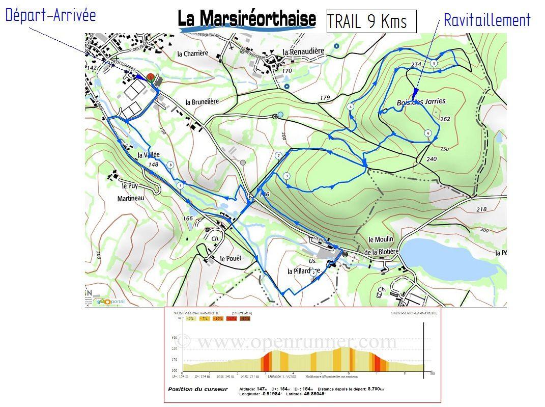 PARCOURS TRAIL 9 Kms