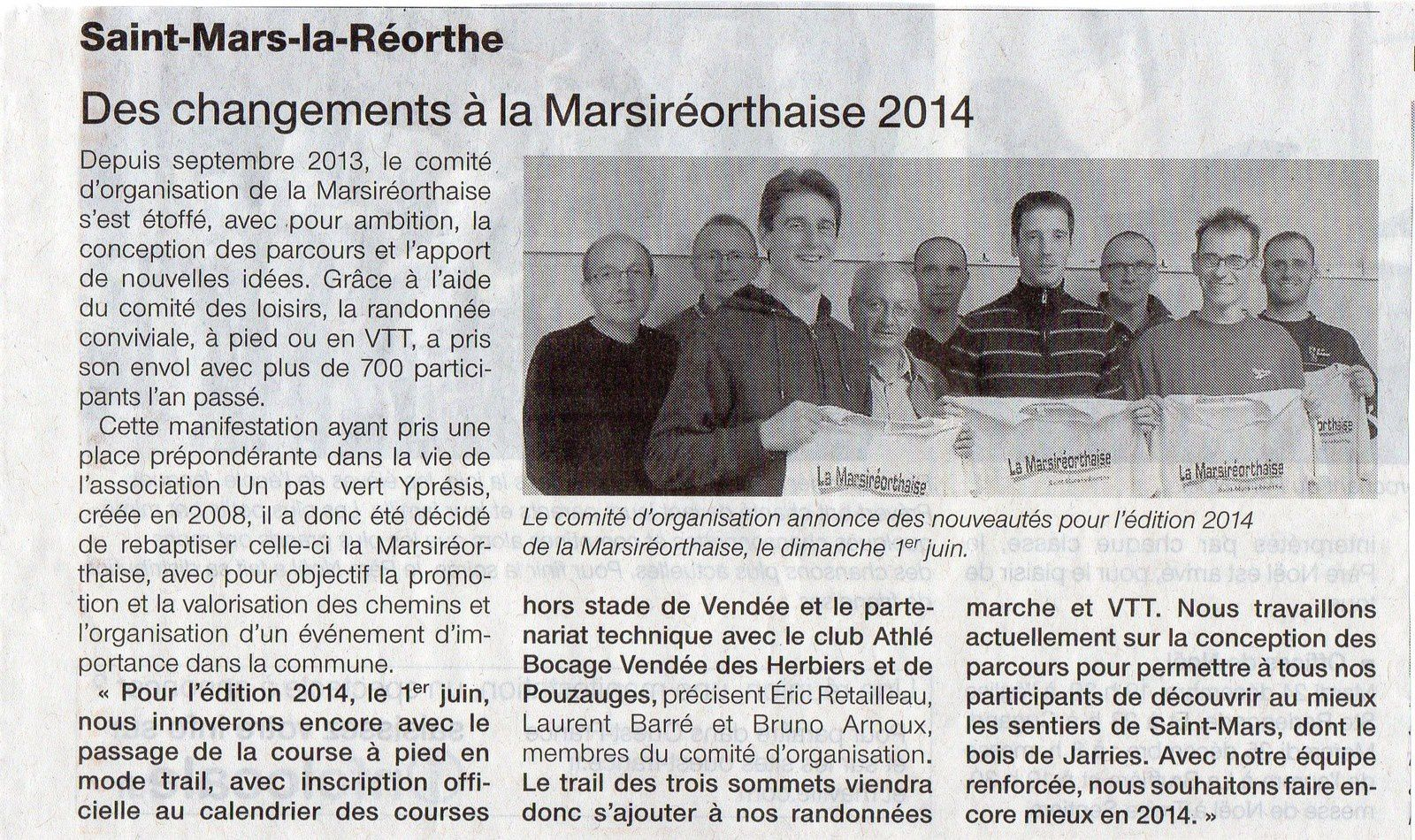 Article Ouest France du 23/12/2013
