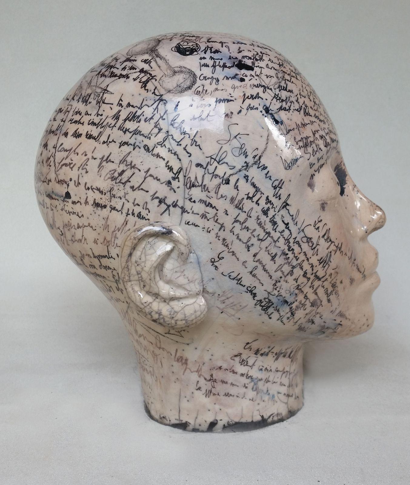 céramique têtes en terre Frédéric Louvier
