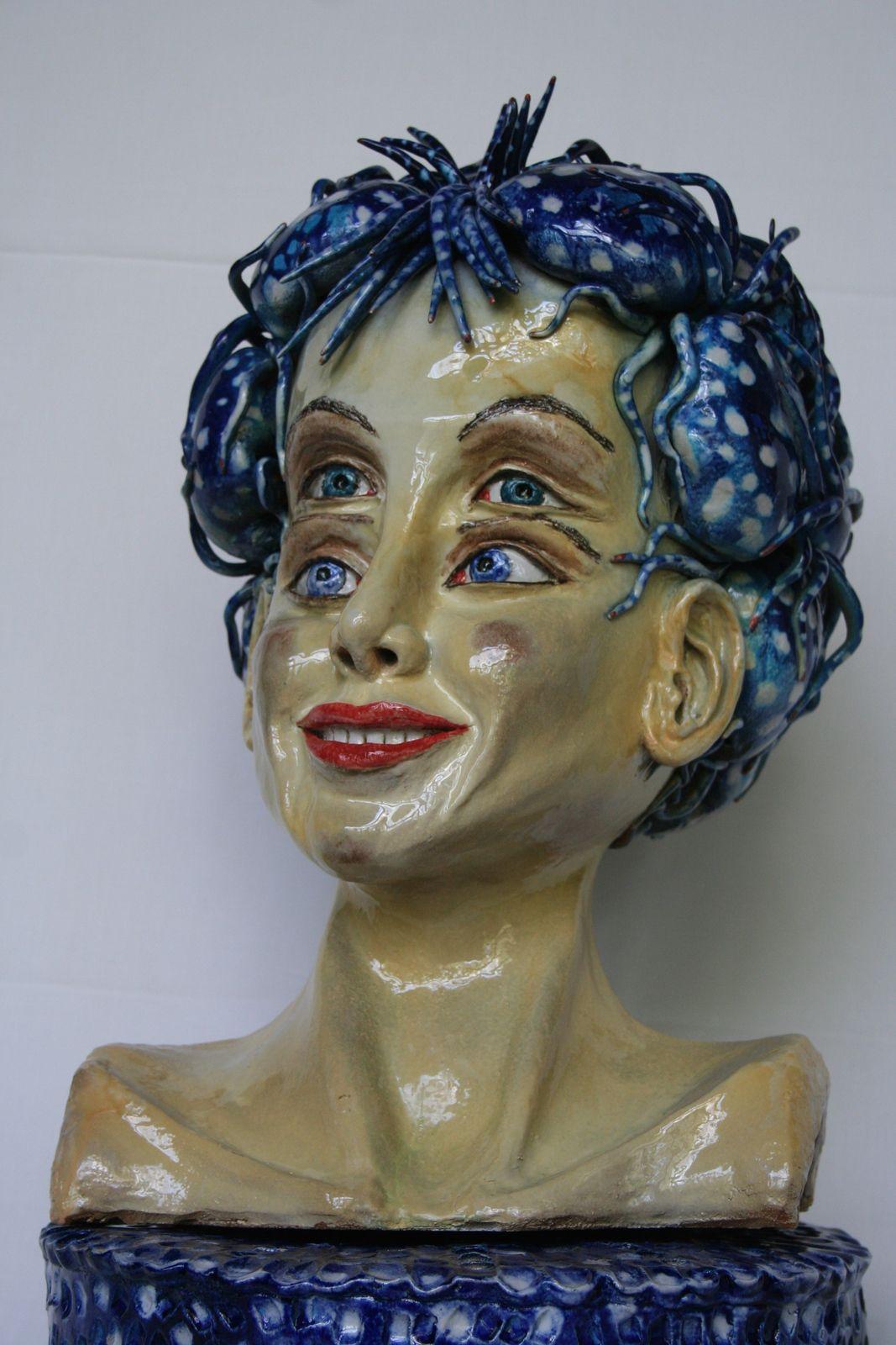 Artémis - Sculpture céramique - Christine Viennet.