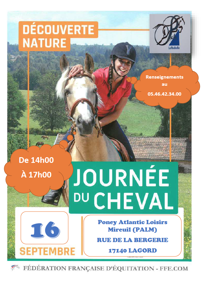Journée du cheval à La Rochelle au Centre Equestre PALM • 16 septembre 2018