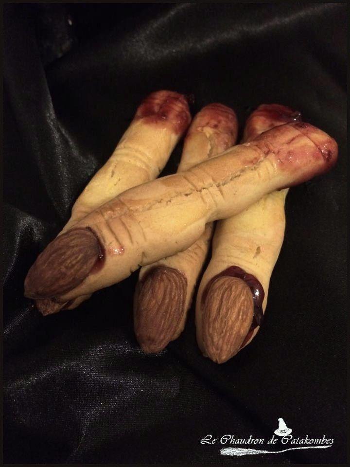 De délicieux doigts de sorcière à tremper dans du lait ou un chocolat chaud. Miam!