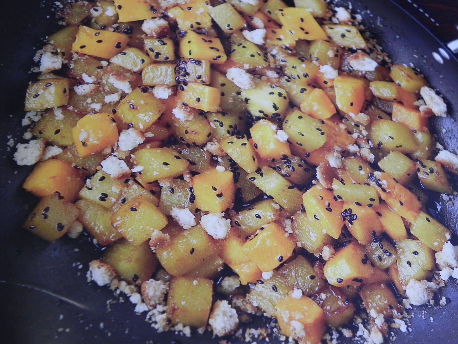 Ananas et mangue au sésame noir