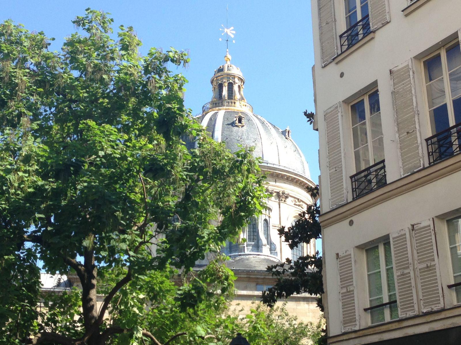 L'Institut de France qui abrite cinq Académies : Académie Française,  Académie des sciences, Académie des Beaux-Arts, Académie des belles lettres et Académie des sciences morales et politiques.