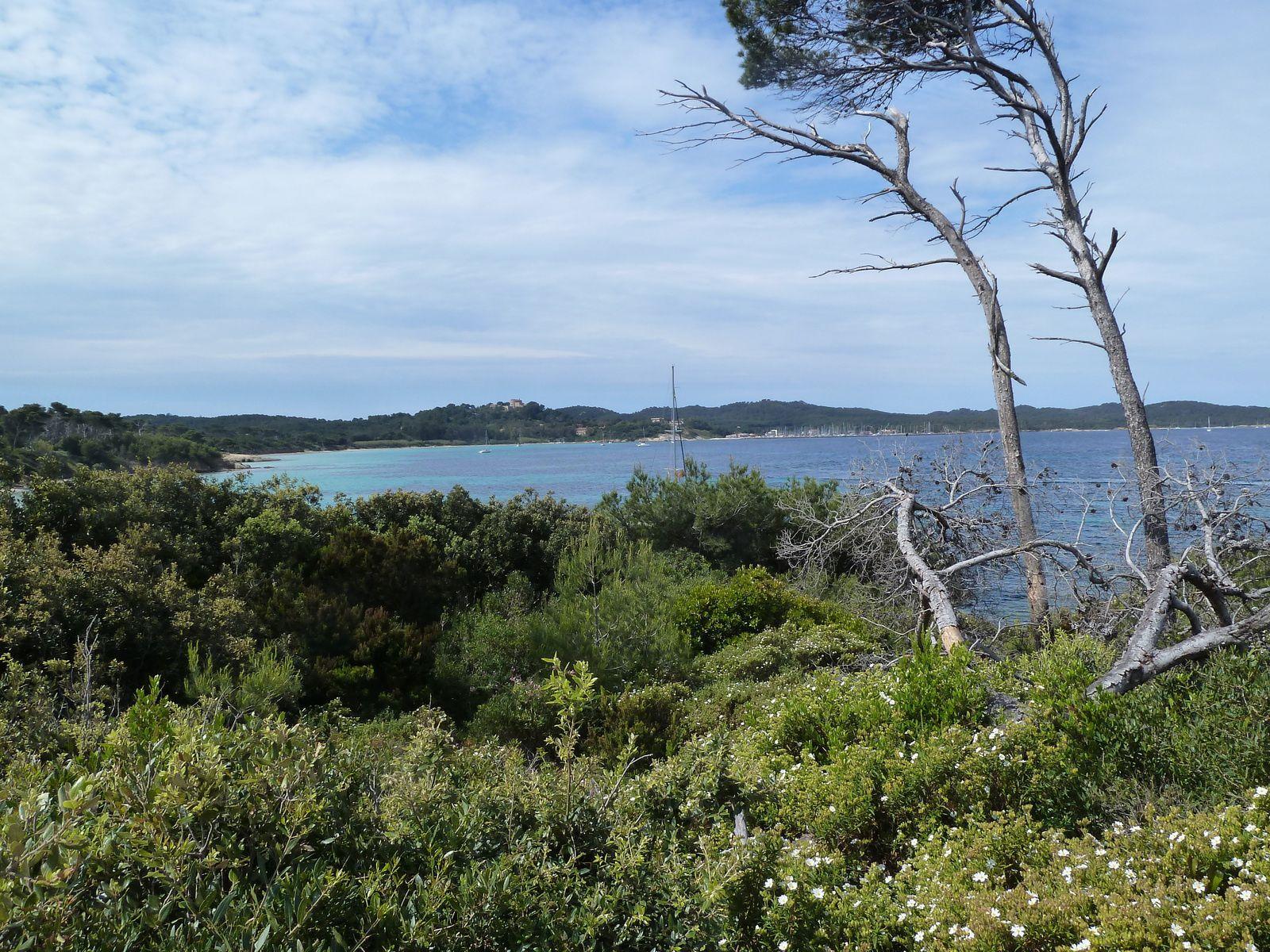 La plage du Lequin d'où on aperçoit, en arrière plan, la plage d'Argent et la Pointe du Bon Renaud.