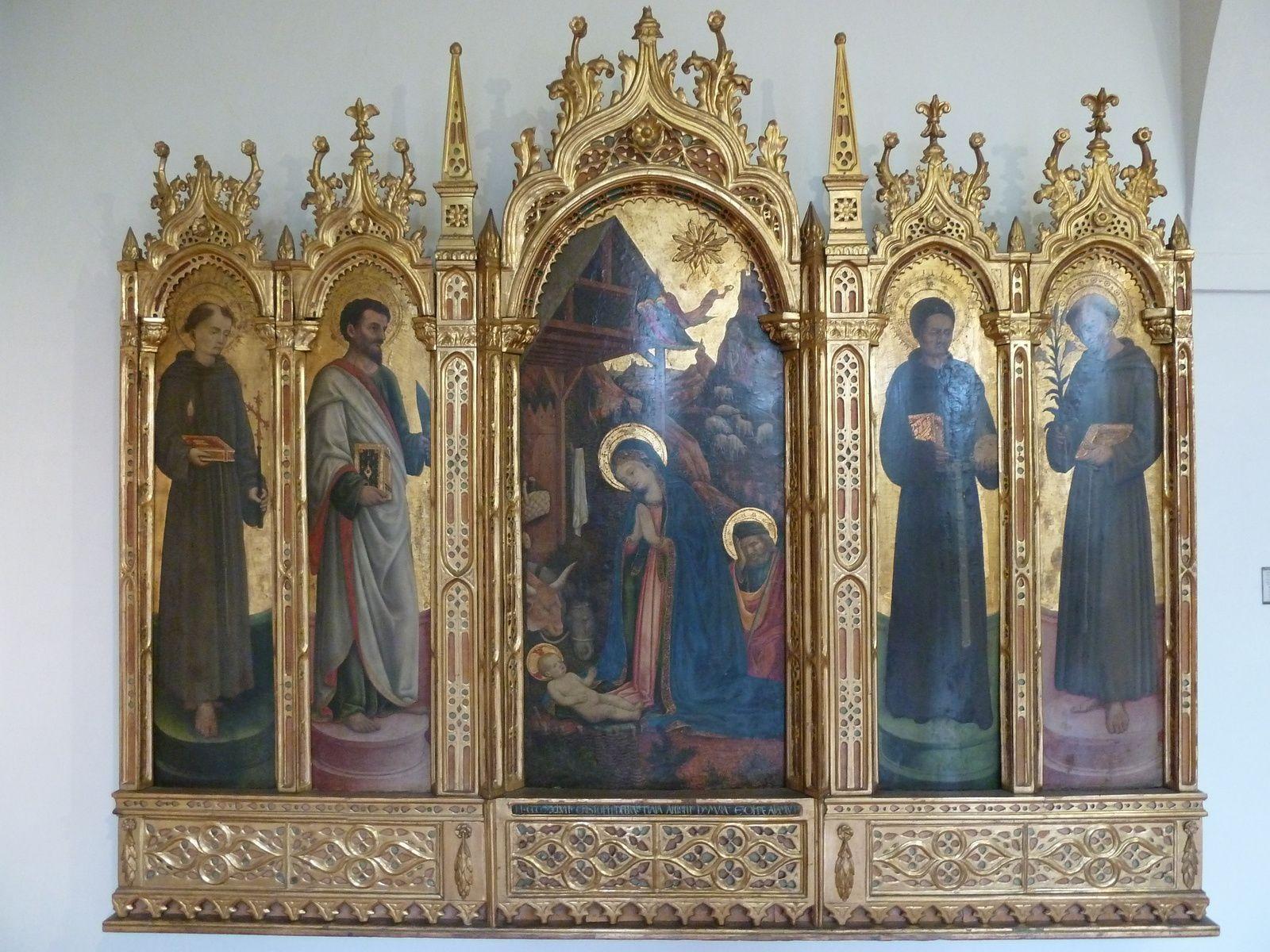 Poliptyque Edoration des Saints Antonio di Vivarini de Murano (Venise) XVème.