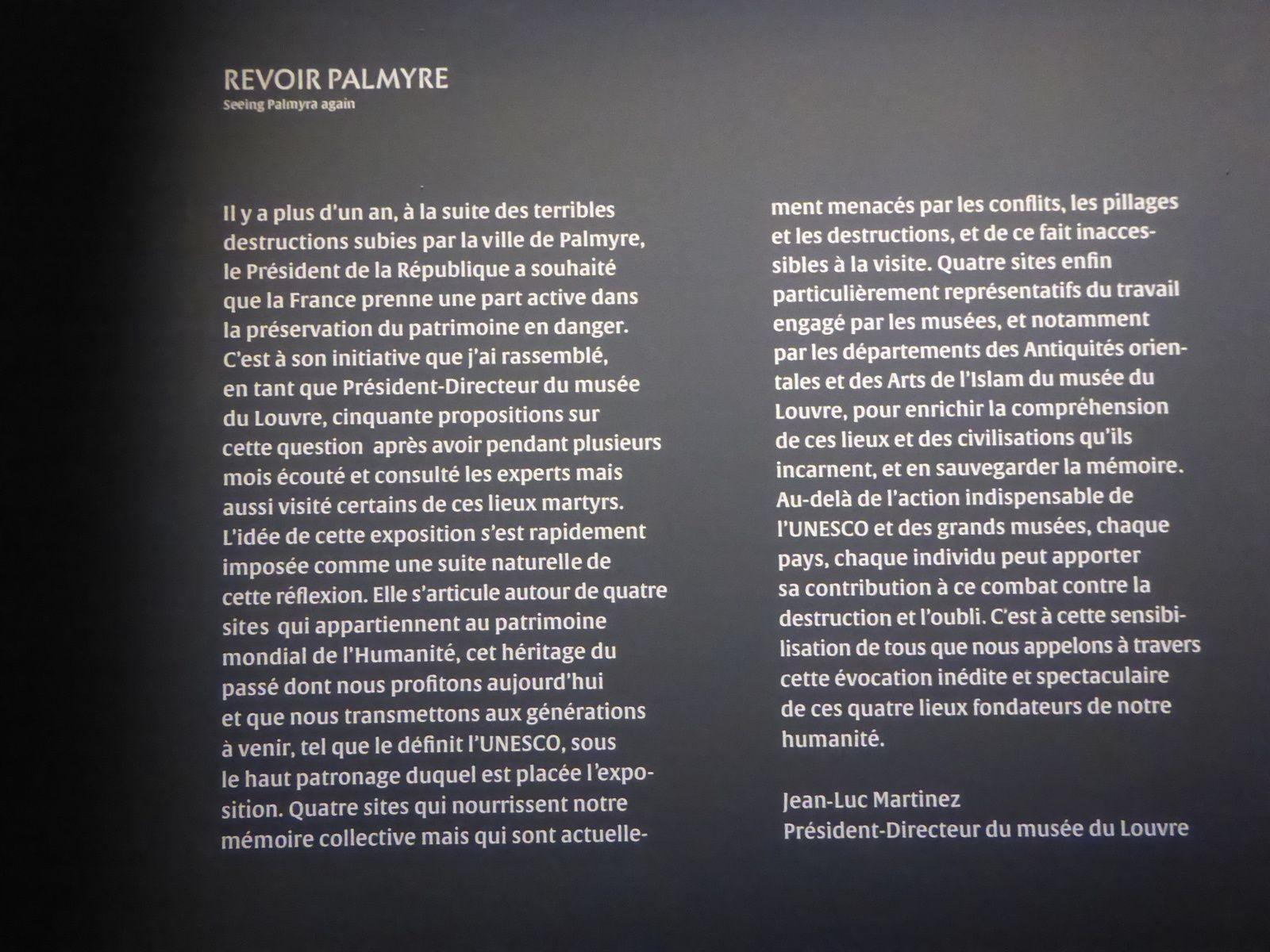 Sites éternels au Grand Palais, Palmyre, Mosquée des Omeyyades, le Krak des Chevaliers, Khorsabad..