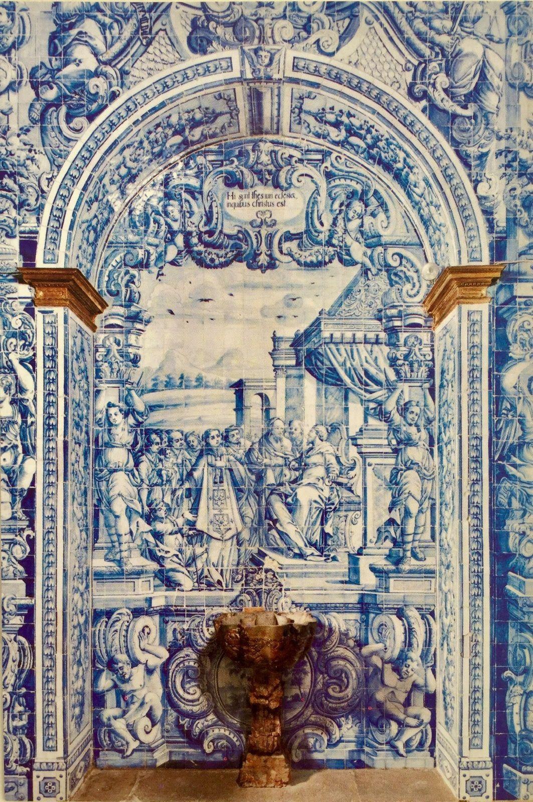 La chapelle São Lourenço d'Almancil en Algarve.
