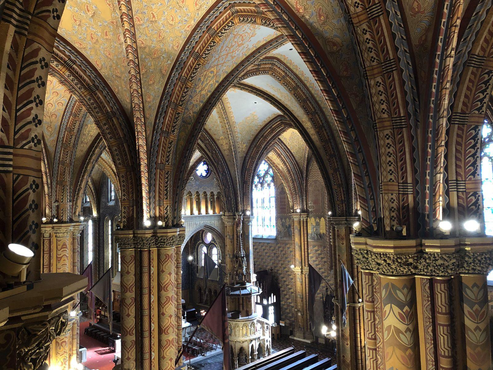 Le palais présidentiel, l'Eglise Saint-Mattias et le Bastion des Pêcheurs - Budapest.