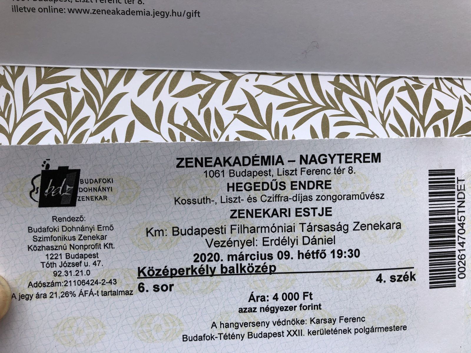 Le Mémorial des chaussures et concert à l'Académie de musique - Budapest.