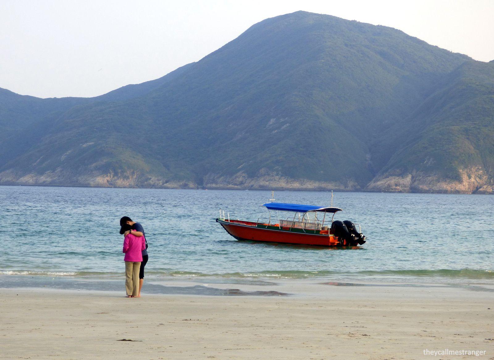 Camper sur la plage Ham Tin