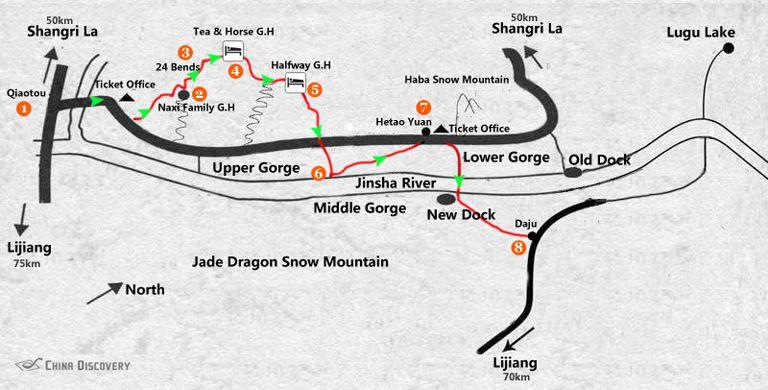 Randonnée dans les Gorges du Saut du Tigre 虎跳峡 (2 jours- High trail)