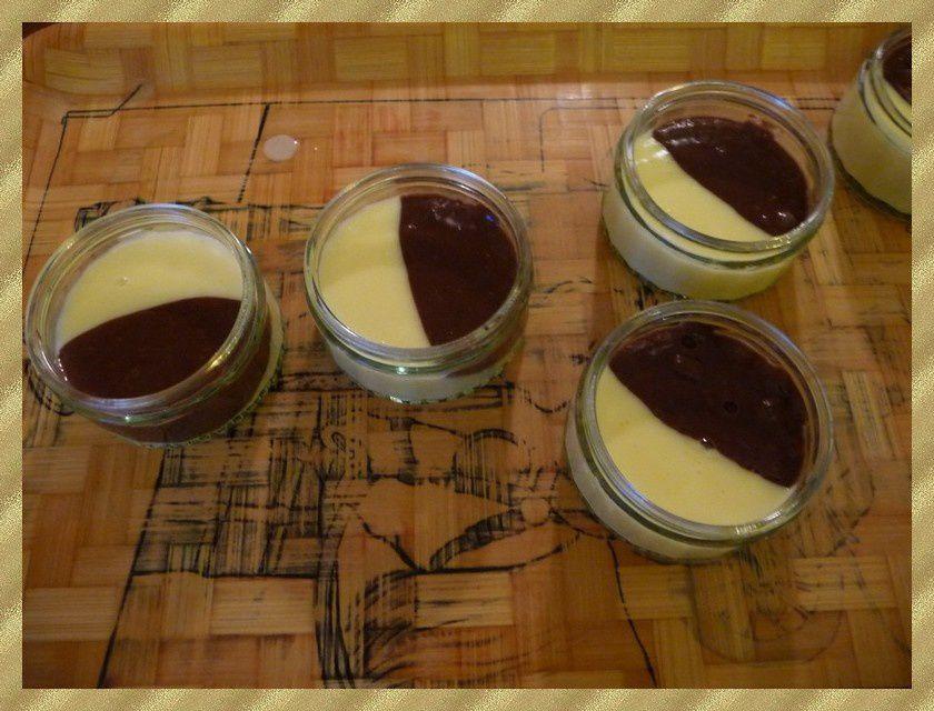 Crème dessert aux deux saveurs