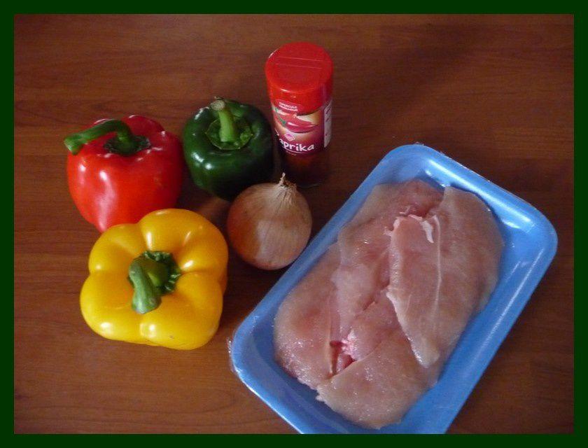 Roulé de poulet aux poivrons:
