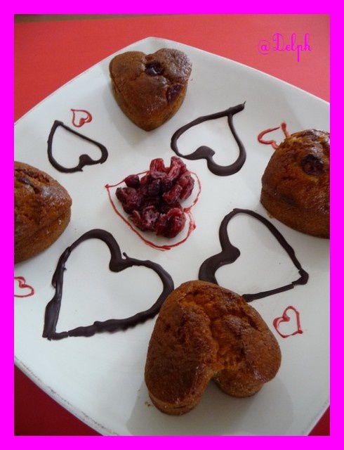 Petits coeurs aux cranberries