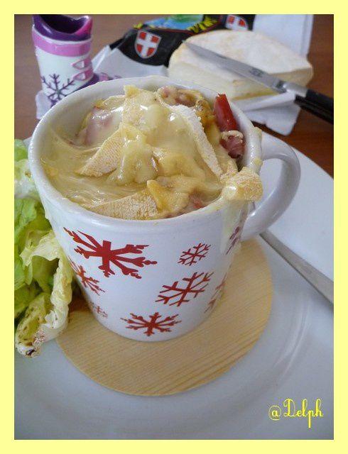 Tartiflette en mug cake