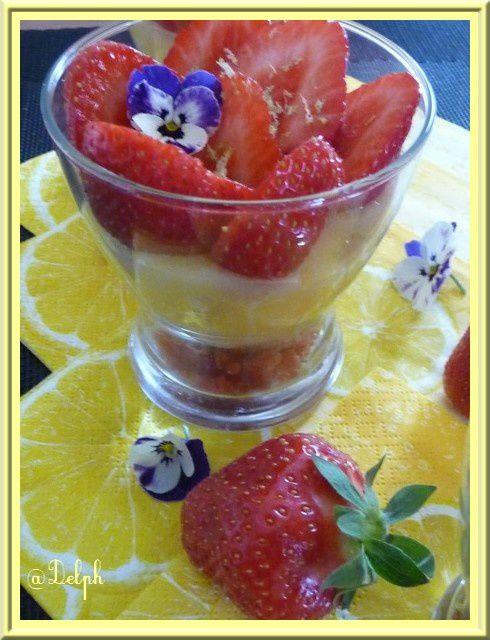 Tarte citron fraises en verrine