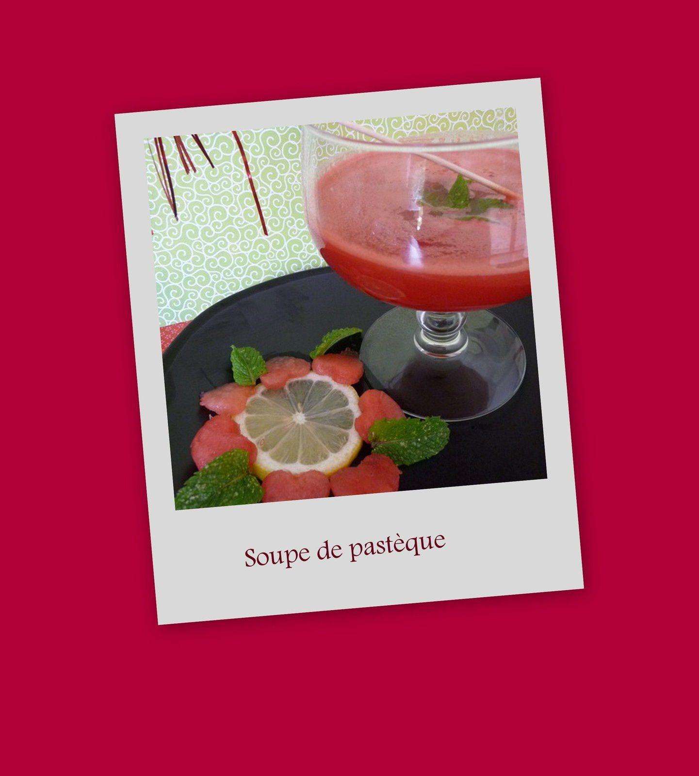 Soupe fraîche à la pastèque