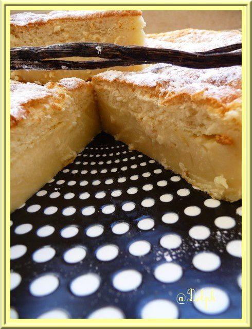 Gâteau magique à la vanille.