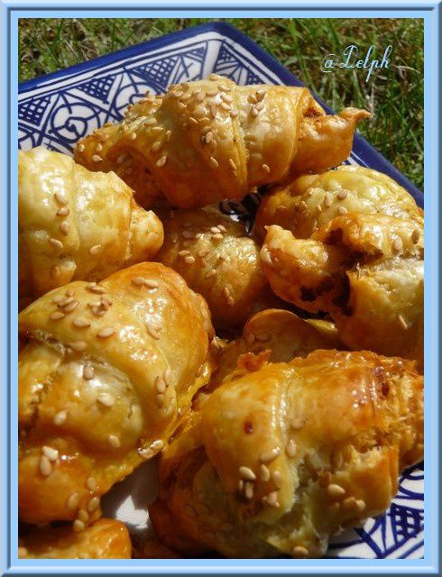 Minis croissants au délice de tomates séchées