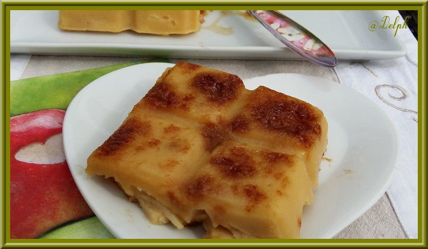 Clafoutis aux pommes et éclats de Caramel