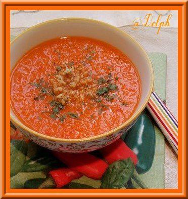Soupe de tomates et poivrons