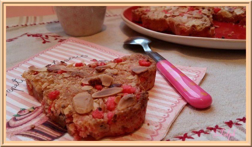 Cookie géant aux pralines roses et amandes