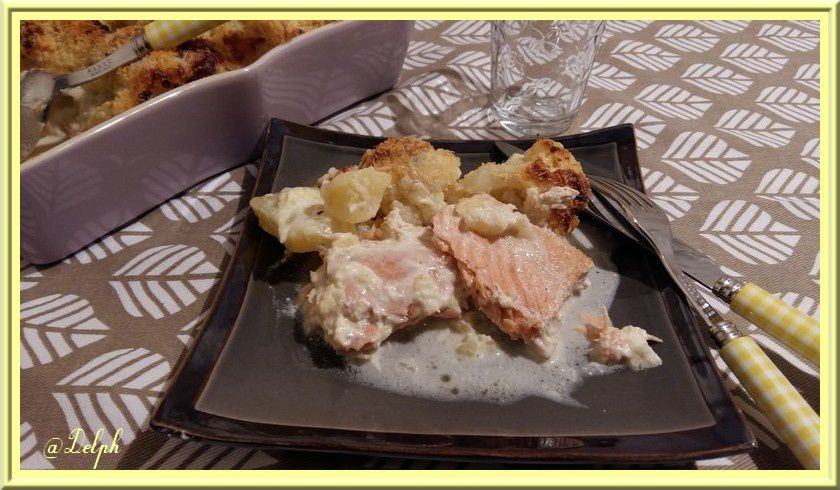 Parmentier de Chou-Fleur au saumon