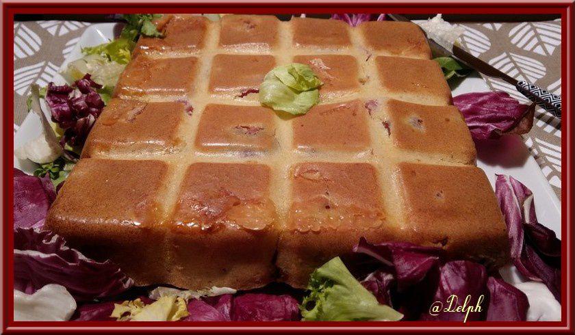 Cake Comtois à la saucisse de Morteau