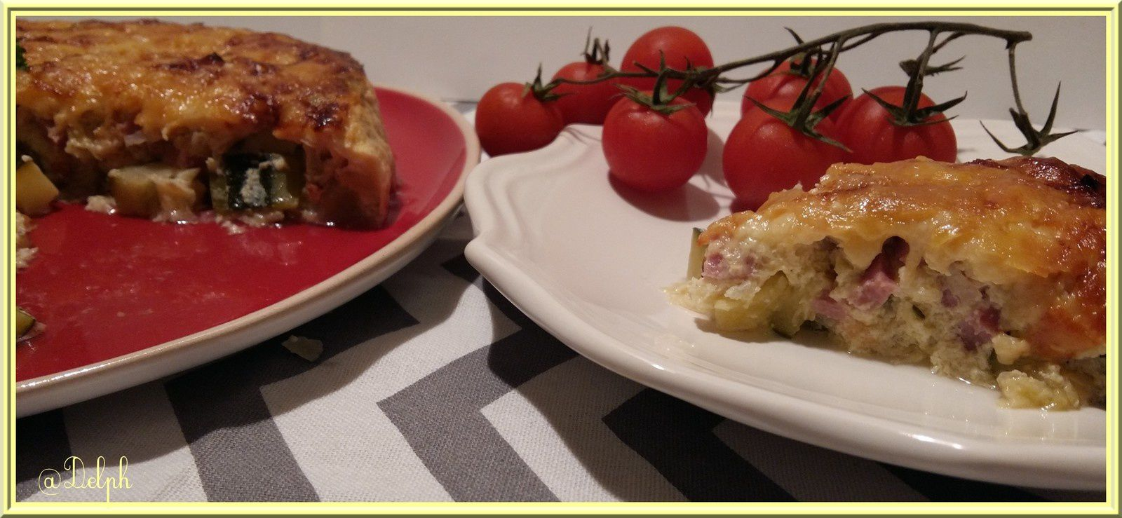 Flan courgettes jambon
