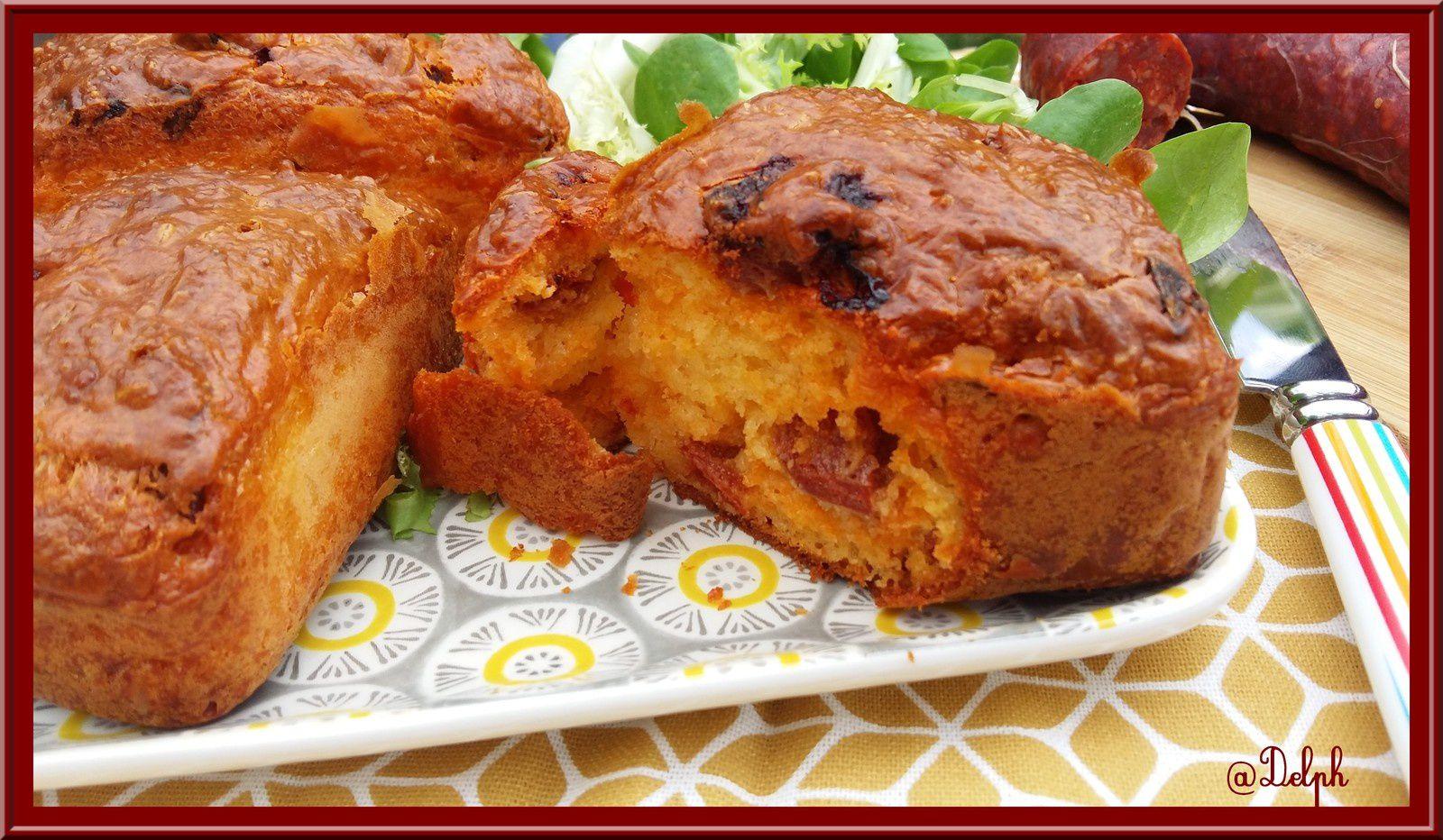 Cake au chorizo et au comté