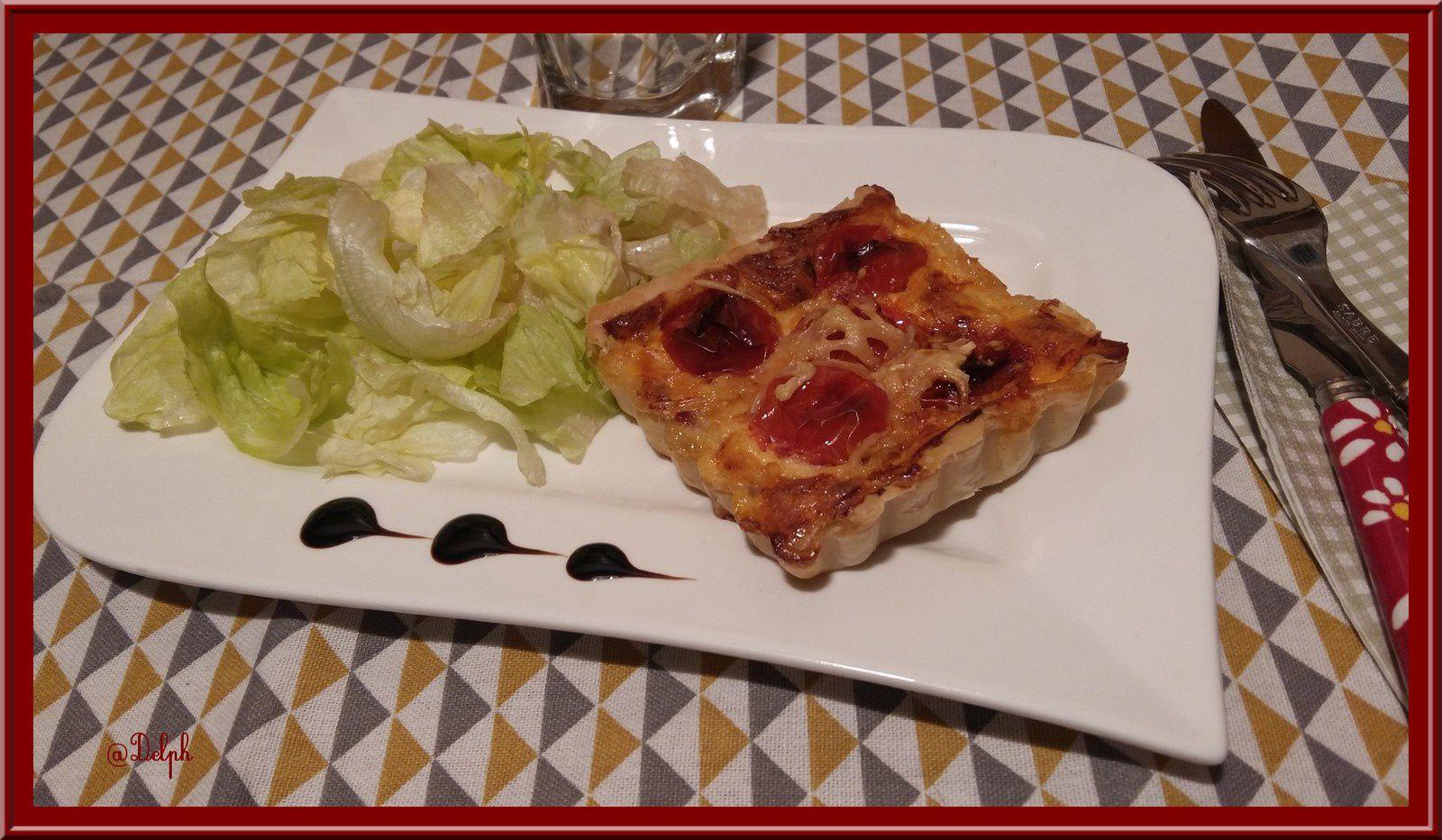 Tartelettes feuilletées à la tomate Cerise