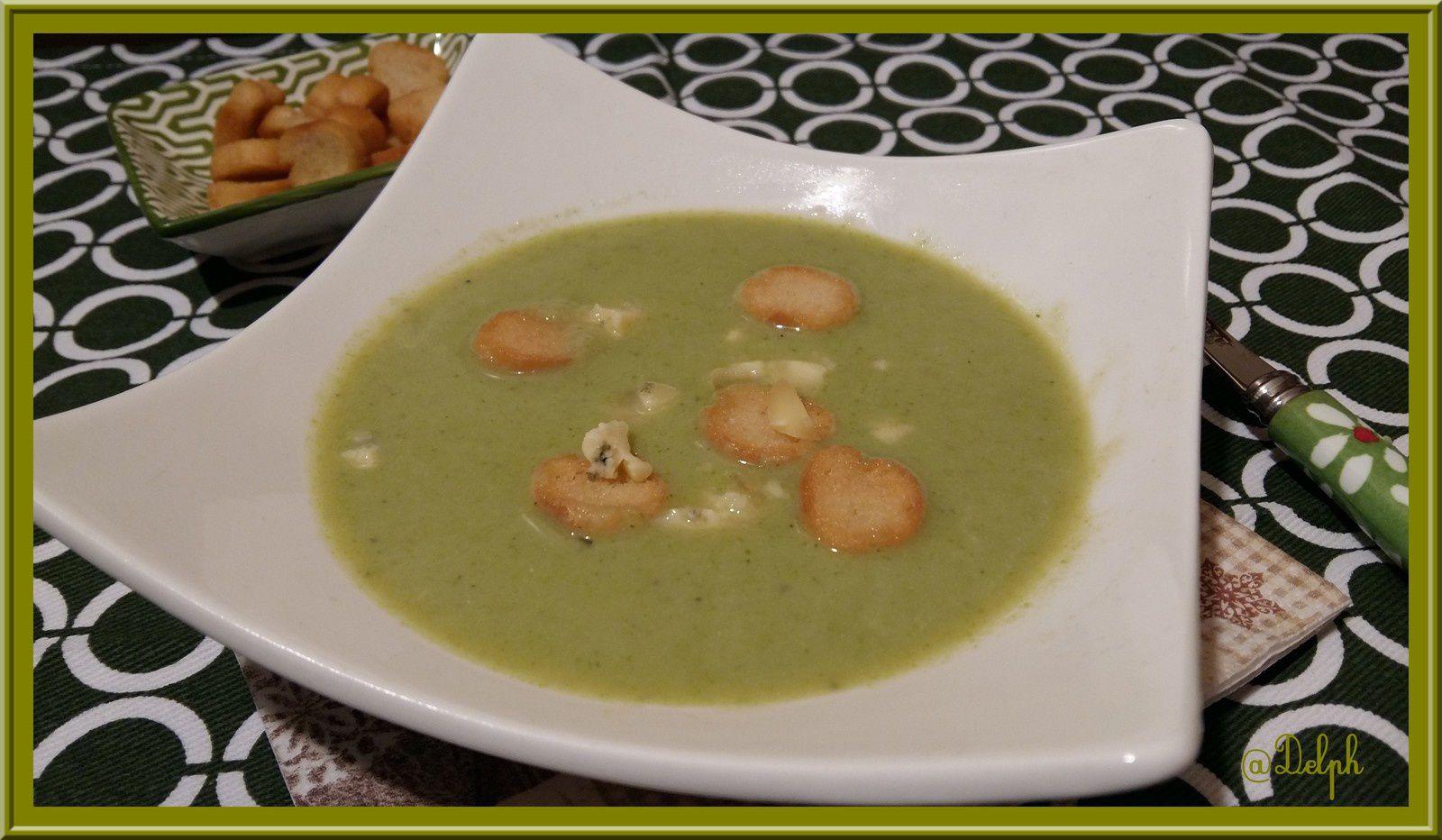 Soupe de Brocolis à la Fourme Persillée