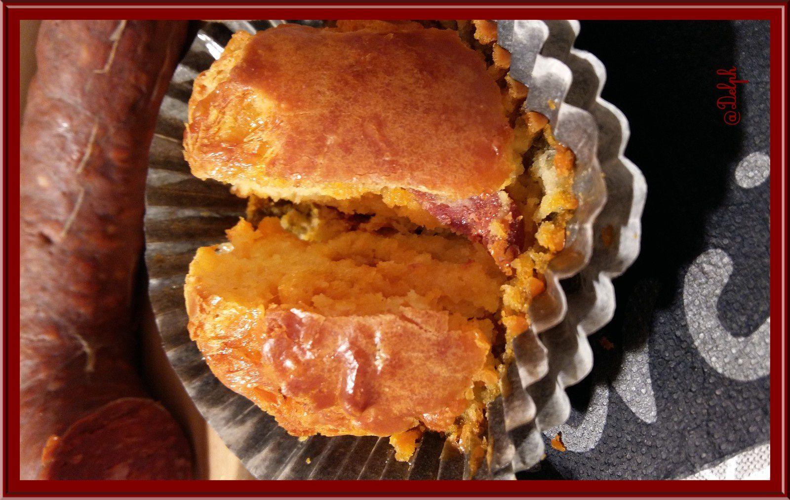 Muffins Chorizo et Comté