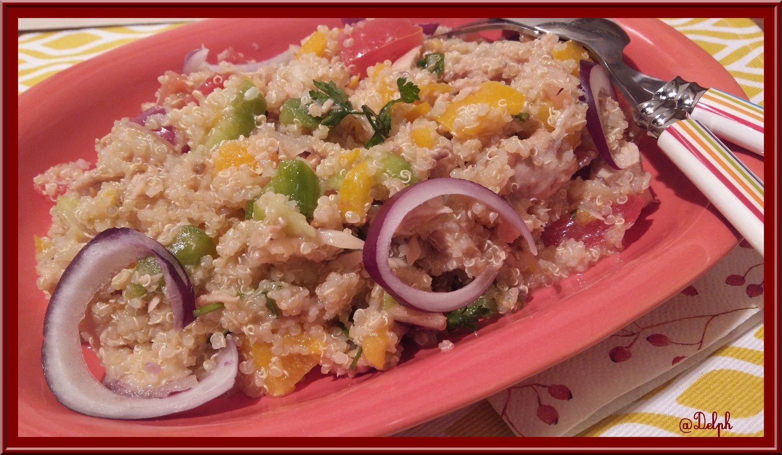 Salade de quinoa aux l gumes et thon au thermomix oh for Idee repas entre amoureux