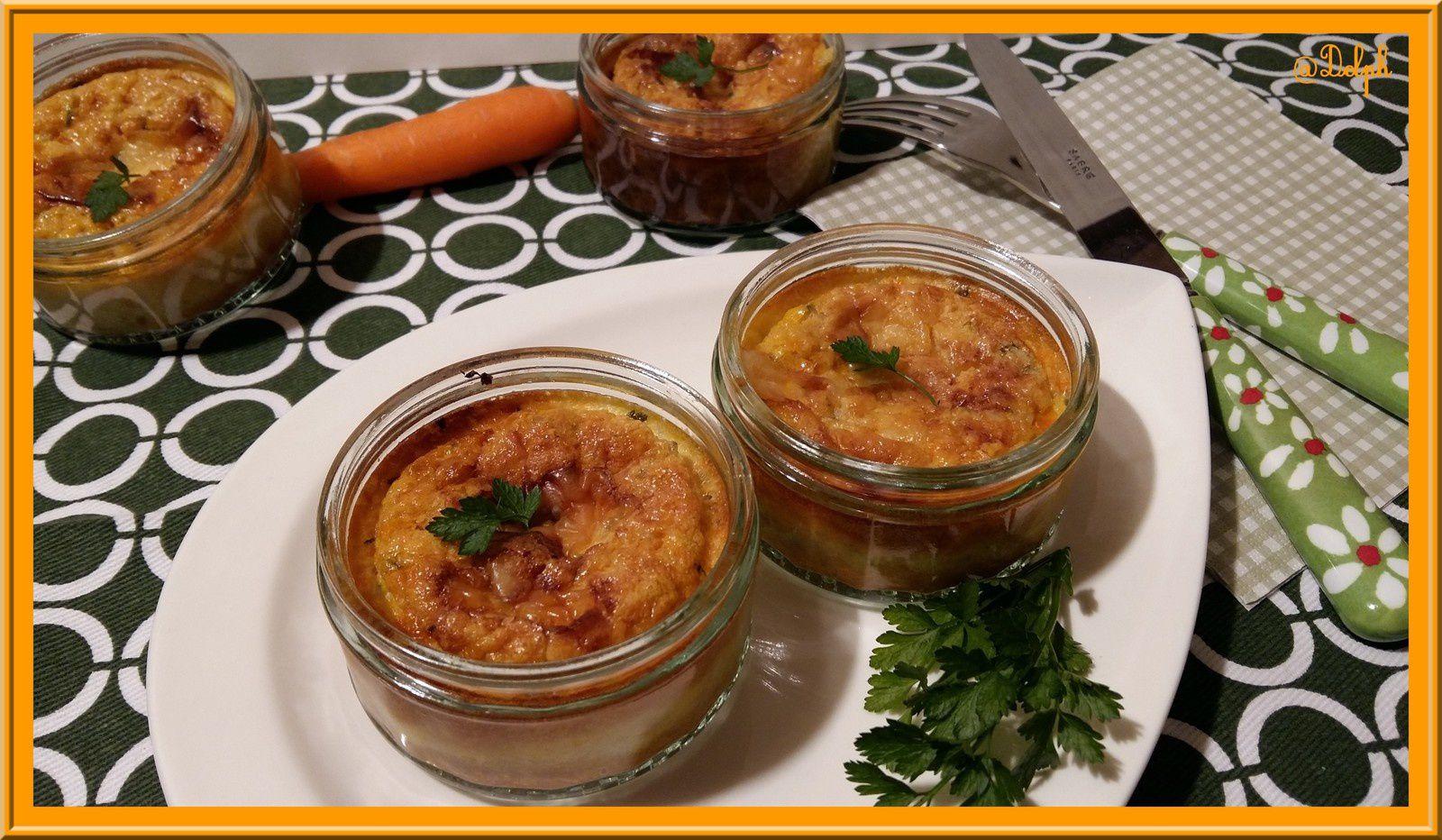 Flan à la carotte, persil et cumin