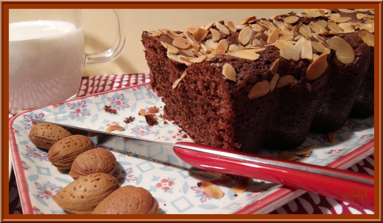 Cake au chocolat Caramel et Amande