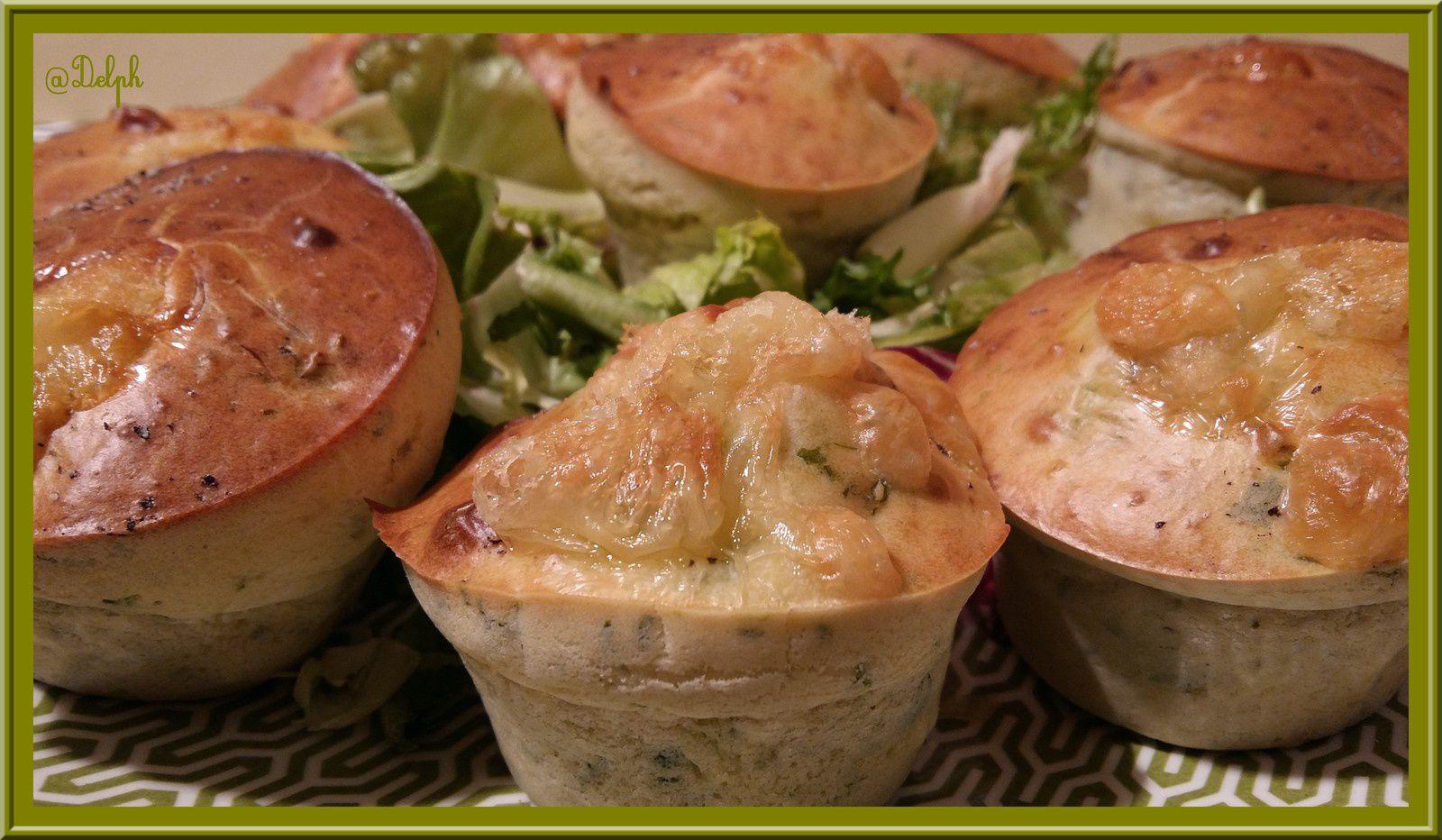 Muffins aux fanes de radis et fromage de chèvre.