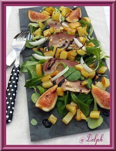 Salade gourmande de filets de canard oh la gourmande - Cuisiner un filet de canard ...