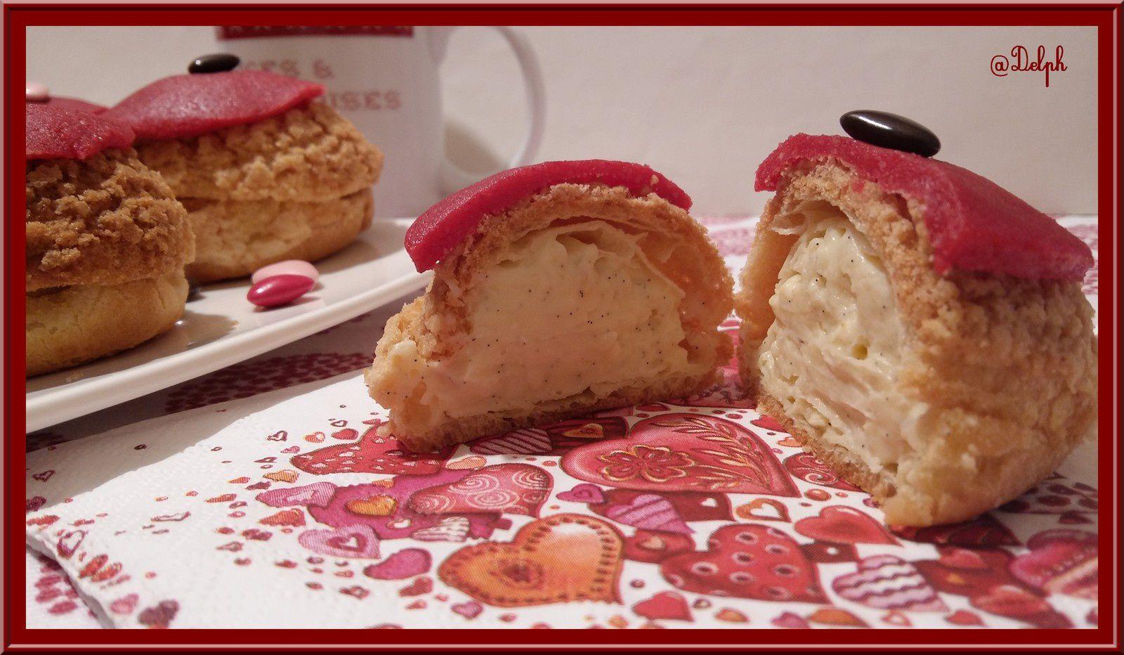 Choux à la crème vanillée ou à la rose