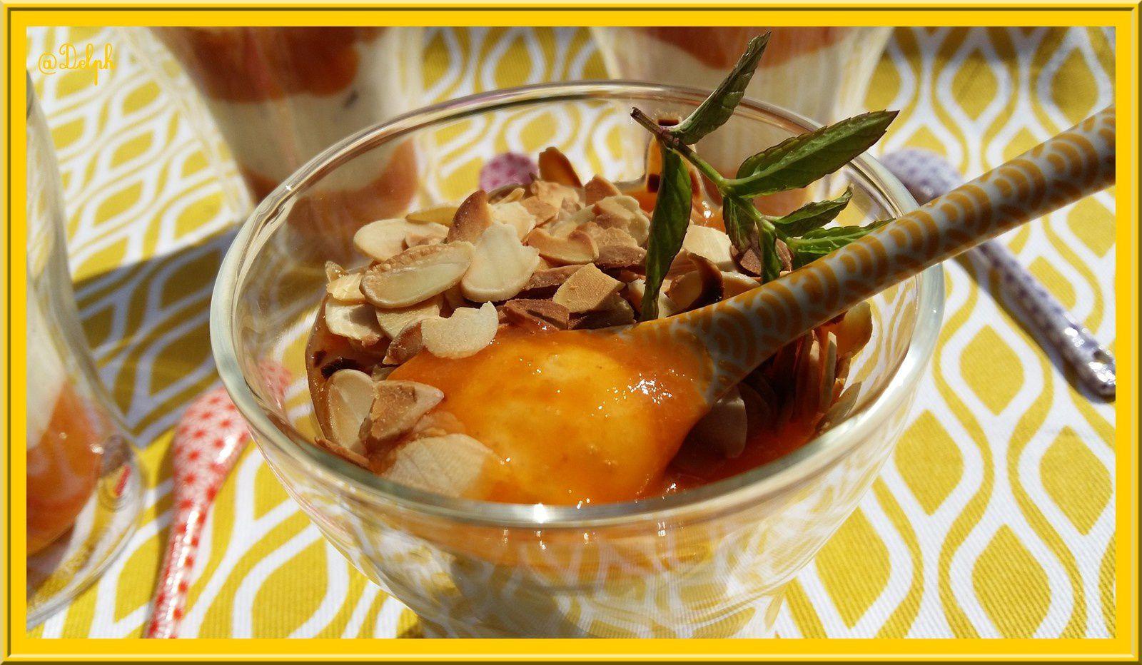 Fromage blanc et sa compotée d'abricots