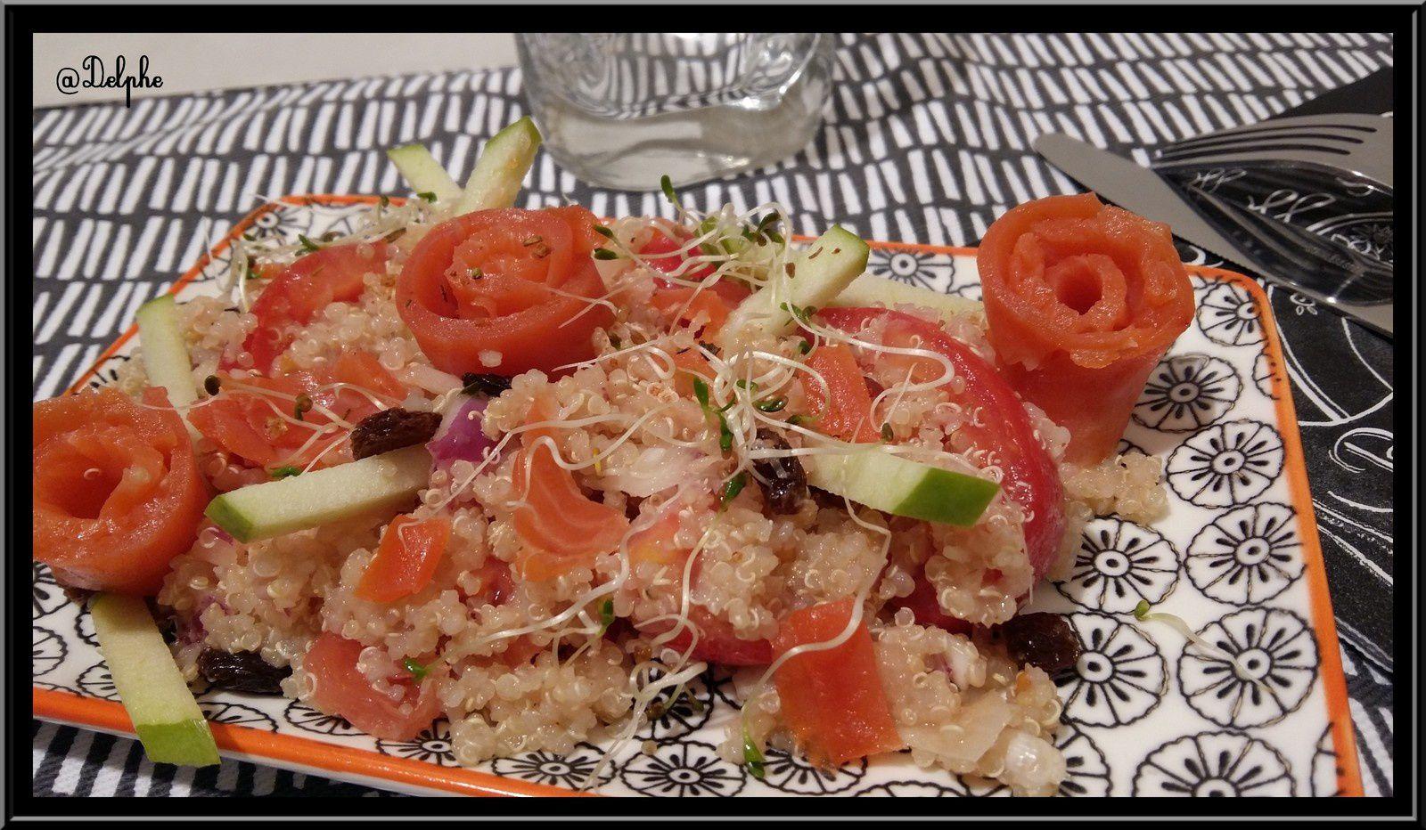Salade de Quinoa à la truite et Granny Smith