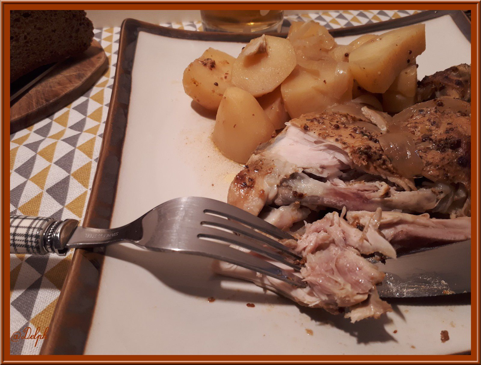 Cuisses de Poulet Miel, Moutarde et Cidre