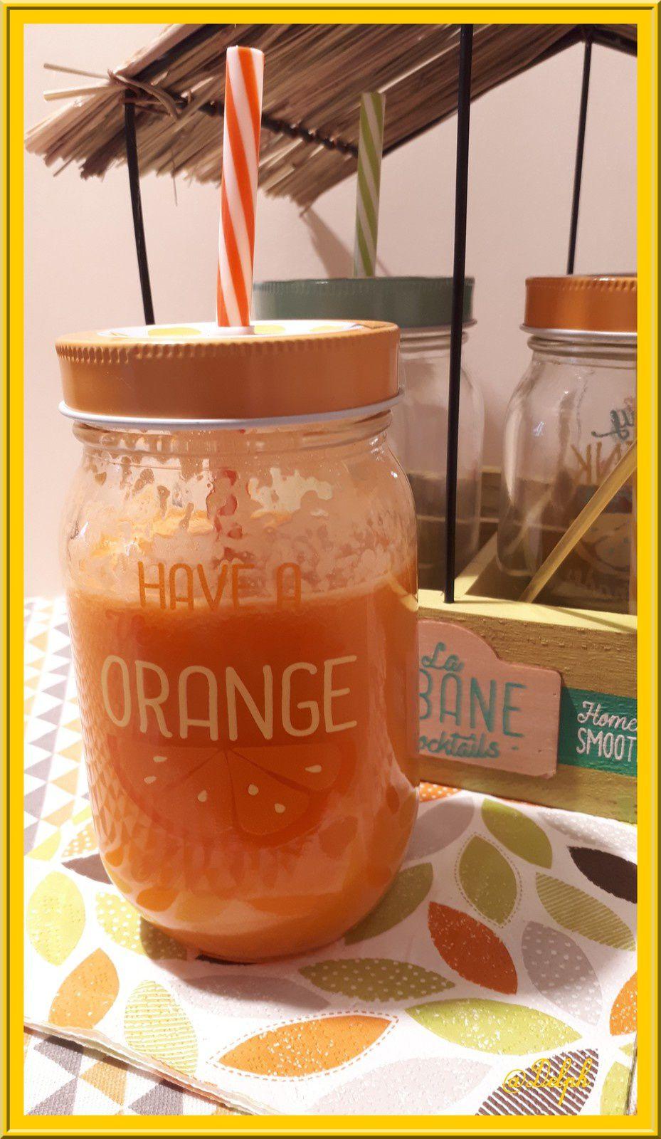 Jus d'Oranges, Pommes, Carottes et Gingembre